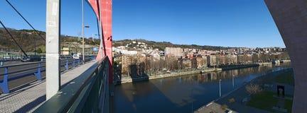 Bilbao landskap av Biscay, baskiskt land, Spanien, Iberiska halvön, Europa Arkivbild