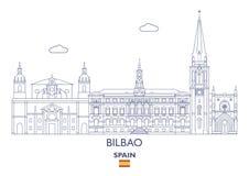 Bilbao City Skyline, Spain Royalty Free Stock Image
