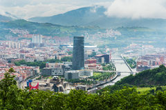 Bilbao miasto, Hiszpania Fotografia Royalty Free