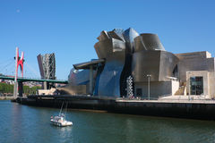 Bilbao Nervion River Royalty Free Stock Photography