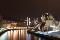 Bilbao at night Royalty Free Stock Image
