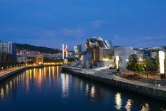 Bilbao at Night Stock Photos