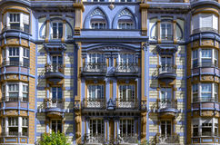 Bilbao old buildings Royalty Free Stock Photos