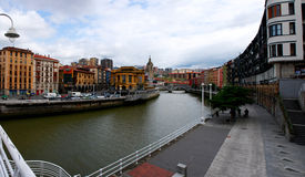 Bilbao panorama royalty free stock photography