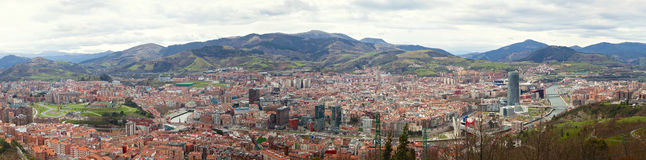 Bilbao panoramic view Royalty Free Stock Image