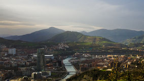 Bilbao Panoramiczny Obraz Stock