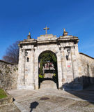 Bilbao, province of Biscay, Basque Country, Spain, Iberian Peninsula, Europe. Spain, 25/01/2017: the arch of the former cemetery of Bilbao located on the Royalty Free Stock Photos