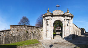 Bilbao, province of Biscay, Basque Country, Spain, Iberian Peninsula, Europe. Bilbao, 25/01/2017: the arch of the former cemetery of Bilbao located on the Stock Photography