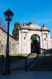 Bilbao, province of Biscay, Basque Country, Spain, Iberian Peninsula, Europe. Spain, 25/01/2017: the arch of the former cemetery of Bilbao located on the Royalty Free Stock Photo