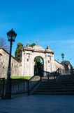 Bilbao, province of Biscay, Basque Country, Spain, Iberian Peninsula, Europe. Spain, 25/01/2017: the arch of the former cemetery of Bilbao located on the Royalty Free Stock Images
