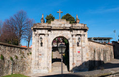 Bilbao, province of Biscay, Basque Country, Spain, Iberian Peninsula, Europe. Spain, 25/01/2017: the arch of the former cemetery of Bilbao located on the Royalty Free Stock Image