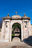 Bilbao, province of Biscay, Basque Country, Spain, Iberian Peninsula, Europe. Spain, 25/01/2017: the arch of the former cemetery of Bilbao located on the Royalty Free Stock Photography