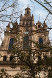 Bilbao, province of Biscay, Basque Country, Spain, Iberian Peninsula, Europe. Bilbao, 25/01/2017: the Basilica of Begona, a XVI century church in Gothic and Royalty Free Stock Photography