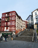 Bilbao, province of Biscay, Basque Country, Spain, Iberian Peninsula, Europe. Bilbao, Basque Country, 25/01/2017: view of Calzadas de Mallona, the staircase Royalty Free Stock Images
