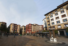 Bilbao, province of Biscay, Basque Country, Spain, Iberian Peninsula, Europe. Basque Country, 25/01/2017: view of the palaces and buildings in Plaza Unamuno Stock Images