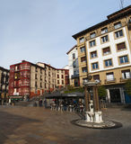 Bilbao, province of Biscay, Basque Country, Spain, Iberian Peninsula, Europe. Basque Country, 25/01/2017: view of the palaces and buildings in Plaza Unamuno Royalty Free Stock Photo