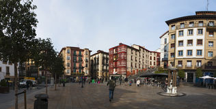Bilbao, province of Biscay, Basque Country, Spain, Iberian Peninsula, Europe. Basque Country, 25/01/2017: view of the palaces and buildings in Plaza Unamuno Stock Photo