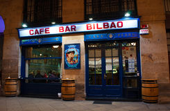 Bilbao, province of Biscay, Basque Country, Spain, Northern Spain, Iberian Peninsula, Europe. Bilbao, 28/01/2017: view of the Cafe Bar Bilbao, one of the most Stock Images