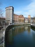 Bilbao Ribera, Spain. Bilbao seen from the Ribera Royalty Free Stock Photography
