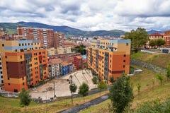 Bilbao sąsiedztwa krajobraz zdjęcie stock
