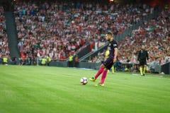 BILBAO, SPAGNA - 28 AGOSTO: Jordi Alba nella partita fra l'Athletic Bilbao ed il FC Barcelona, celebrati il 28 agosto 2016 in Bil Fotografia Stock