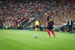 BILBAO, SPAGNA - 28 AGOSTO: Jordi Alba nella partita fra l'Athletic Bilbao ed il FC Barcelona, celebrati il 28 agosto 2016 in Bil Immagine Stock Libera da Diritti