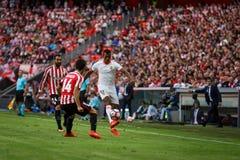 BILBAO, SPAGNA - 18 SETTEMBRE: Luis Carlos Almeida da Cunha, Nani, giocatore di Valencia CF, durante la partita fra l'Athletic Bi Fotografia Stock Libera da Diritti