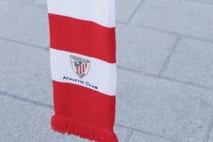 Athletic Club soccer team emblem, on a scarf. Royalty Free Stock Photo