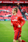 BILBAO, SPAIN - APRIL 20: Fernando Torres before the match between Athletic Bilbao and Athletico de Madrid, celebrated on April 20. 2016 in Bilbao, Spain Royalty Free Stock Images