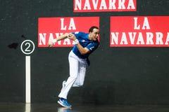 BILBAO, SPAIN - APRIL 9: Juan Martinez de Irujo in the handball championship game of pairs, celebrated on April 9, 2016 in Bilbao, Stock Photography