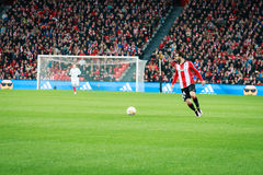 BILBAO, SPAIN - ARPIL 7: Mikel Balenziaga in the match between Athletic Bilbao and Sevilla in the UEFA Europa League, celebrated o Stock Photos