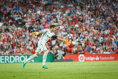 BILBAO, SPAIN - AUGUST 28: Gorka Iraizoz, Athletic Bilbao goalkeeper, in action during a Spanish League match between Athletic Bil Stock Photos