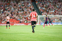 BILBAO, SPAIN - AUGUST 28: Mikel Balenziaga, Athletic Club Bilbao player, in the the match between Athletic Bilbao and FC Barcelon Stock Image