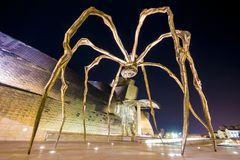 Bilbao, Spain. Maman, a sculpture of a spider by Louise Bourgeois that rests in front of the Guggenheim Museum Bilbao, Spain Stock Image