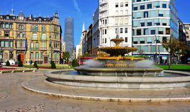 Moyua Square in Bilbao, Spain Stock Images