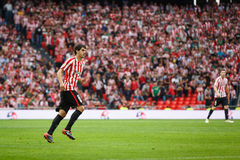 BILBAO, SPAIN - OCTOBER 16: Mikel San Jose, Bilbao player, during a Spanish League match between Athletic Bilbao and Real Sociedad Royalty Free Stock Image