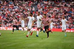 BILBAO, SPAIN - SEPTEMBER 18: Aritz Aduriz, Athletic Bilbao player, in the match between Athletic Bilbao and Valencia CF, celebrat Stock Photography