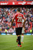 BILBAO, SPAIN - SEPTEMBER 18: Aritz Aduriz, Athletic Club Bilbao player, in the match between Athletic Bilbao and Valencia CF, cel Stock Image