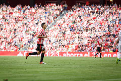 BILBAO, SPAIN - SEPTEMBER 18: Aritz Aduriz, Bilbao player, during the match between Athletic Bilbao and Valencia CF, celebrated on Stock Image