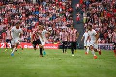 BILBAO, SPAIN - SEPTEMBER 18: Aritz Aduriz, Raul Garcia, Santos and M. Suarez during the match between Athletic Bilbao and Valenci Stock Images