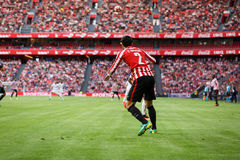 BILBAO, SPAIN - SEPTEMBER 18: Eneko Boveda, Bilbao player, during a Spanish League match between Athletic Bilbao and Valencia CF, Royalty Free Stock Photography