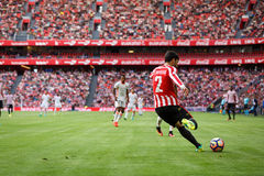 BILBAO, SPAIN - SEPTEMBER 18: Eneko Boveda, Bilbao player, during a Spanish League match between Athletic Bilbao and Valencia CF, Royalty Free Stock Images