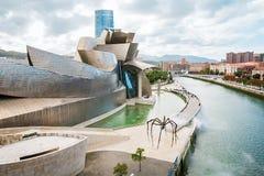 Guggenheim Bilbao museum. BILBAO, SPAIN - September 2017: Guggenheim Bilbao museum in Bilbao, Spain. Designed by Frank Gehry Stock Images