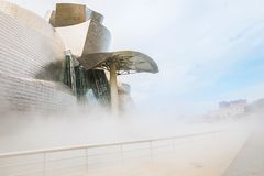 Guggenheim Bilbao museum. BILBAO, SPAIN - September 2017: Guggenheim Bilbao museum in Bilbao, Spain. Designed by Frank Gehry Stock Photos