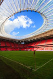 BILBAO, SPAIN - SEPTEMBER 18: Internal panoramic San Mames Stadium after the match between Athletic Bilbao and Valencia CF, celebr Royalty Free Stock Photo