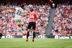 BILBAO, SPAIN - SEPTEMBER 18: Makerl Susaeta, Athletic Bilbao player, in the match between Athletic Bilbao and Valencia CF, celebr Stock Image