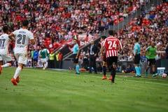 BILBAO, SPAIN - SEPTEMBER 18: Markel Balenziaga, Bilbao player, during the match between Athletic Bilbao and Valencia CF, celebrat Royalty Free Stock Photo