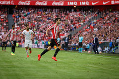 BILBAO, SPAIN - SEPTEMBER 18: Markel Susaeta, Athletic Club player, in the match between Athletic Bilbao and Valencia CF, celebrat Royalty Free Stock Photography