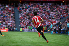 BILBAO, SPAIN - SEPTEMBER 18: Markel Susaeta, Athletic Club player, in the match between Athletic Bilbao and Valencia CF, celebrat Royalty Free Stock Image