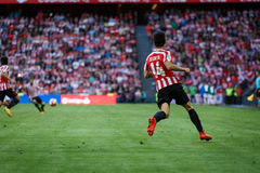 BILBAO, SPAIN - SEPTEMBER 18: Markel Susaeta, Athletic Club player, in the match between Athletic Bilbao and Valencia CF, celebrat Stock Photo